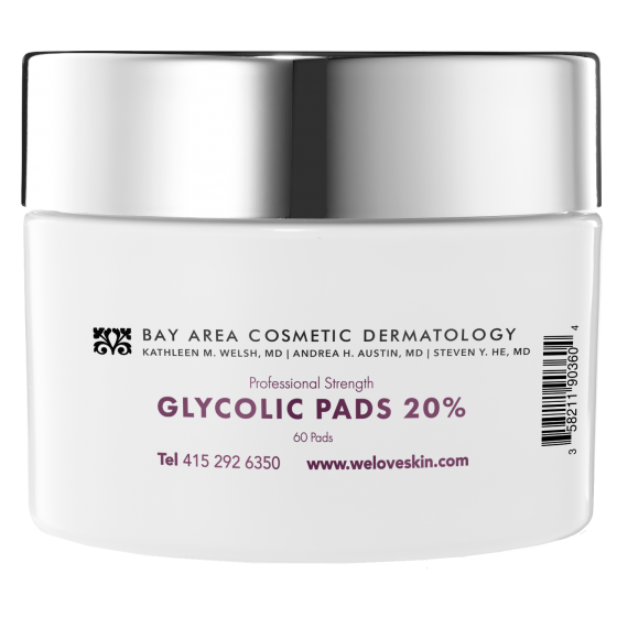 BACD Professional Strength Glycolic Pads -  20%